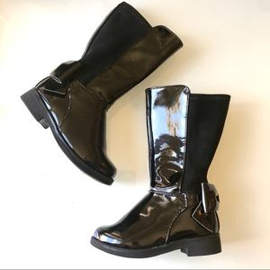 Children's Place Patent Leather Bow Tall Boots
